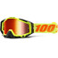 100% Racecraft Goggle attack yellow / mirror
